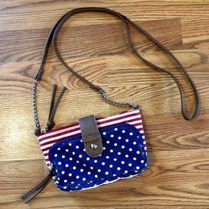 Handbags - Festival Purse❤️ Canvas American Flag Mini Purse